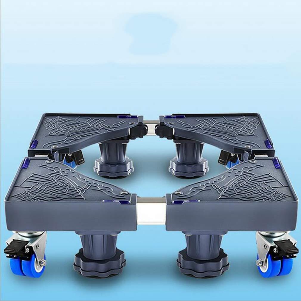 多機能ベース、調整可能な4つの回転ホイール防水ベース、家電ベース冷蔵庫洗濯機用 (色 : A)  A B07L4T4PFK