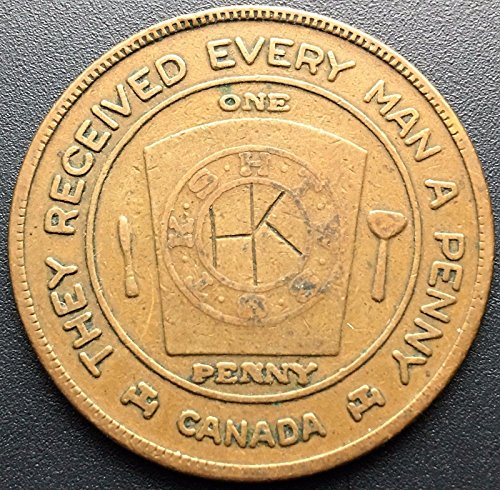 Unbranded MASONIC PERTH CANADA THEY RECEIVED EVERY MAN A PENNY TOKEN