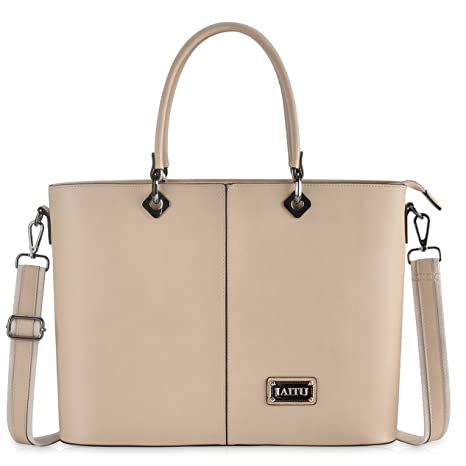 3abd90d551069 Laptop Bag for Women,Personalized Work Laptop Bag Briefcase with Shouler  Strap for Macbook/Ultra-book (nude)