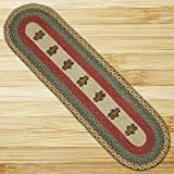Gingerbread Kitchen Rugs Earth Rugs 64-111 Oval Braided Printed Table Runner, 13-Inch by 48-Inch, Gingerbread Man