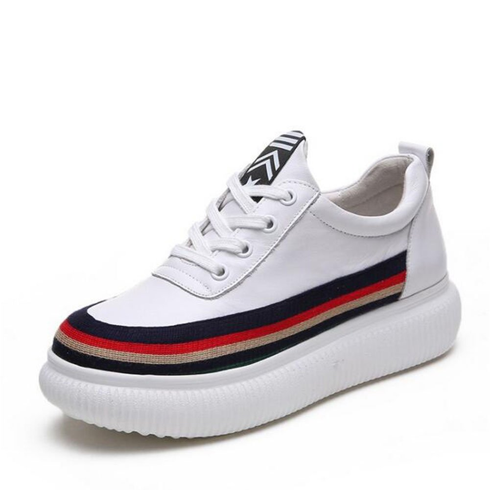 Zapatillas de Deporte Casuales de Las Mujeres 2018 Caída de la Primavera Zapatos nuevos Zapatos de Las Mujeres de los (Color : Blanco, Tamaño : 35) 35|Blanco