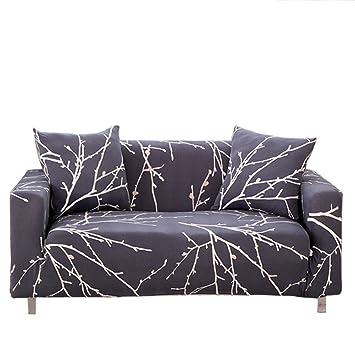 13d2e414c73b88 ENZER Housse de Canapé Salon Couverture Fleurs Oiseau Extensible sofa housses  Canapé Manchon de Protection (