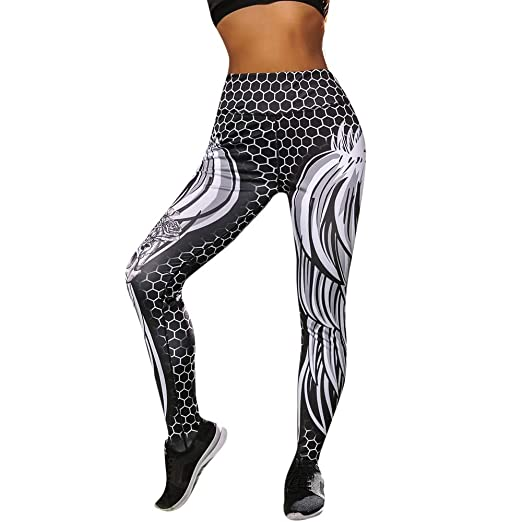 4e796c8158c3e7 Amazon.com: JPJ(TM) New❤️Yoga Pants❤️Women Creative Hight Waist Yoga Shanto  Print Legging Running Stretch Sports Pants Trouser: Clothing