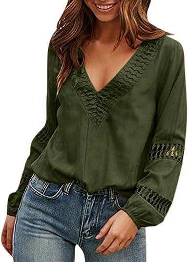 Camisa de Mujer Blusas Suelto Verano Blusas de Verano con ...