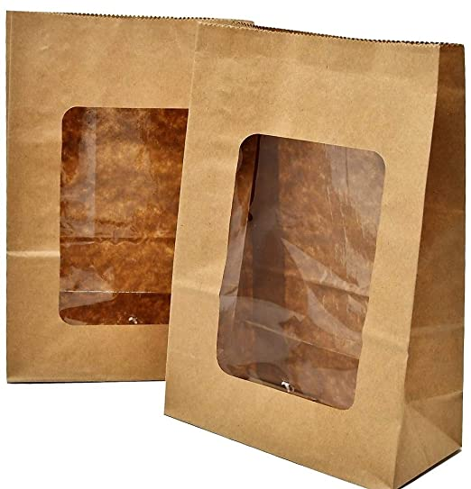 Bakery Direct Kraft - Bolsas para galletas con ventana de ...
