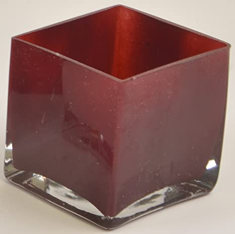 Amazon Decorative Glass Vases Pack Of 12 Red Square