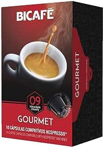 Bicafe Gourmet coffee capsules compatible with Nespresso machines -10 espresso capsules