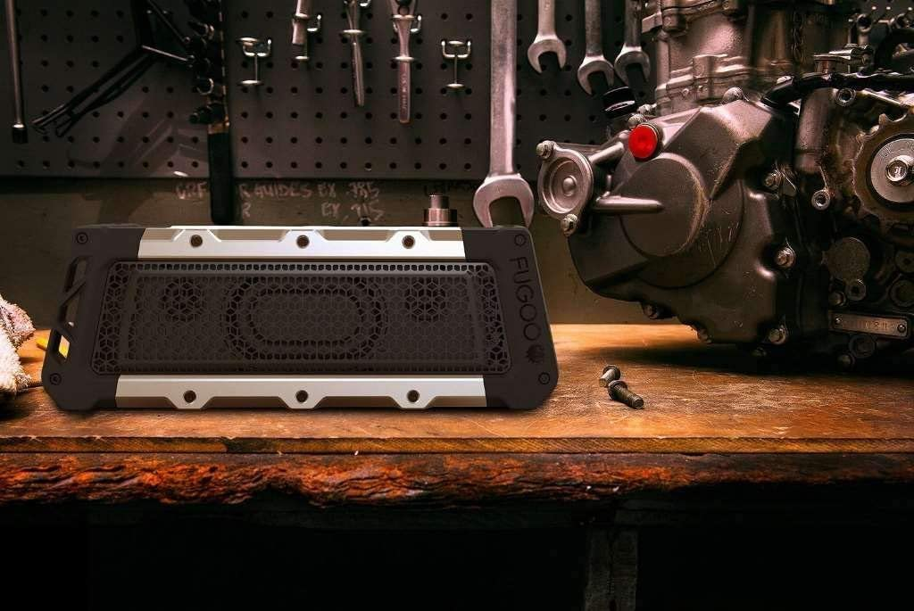 FUGOO Tough XL- Ultimate Rugged Waterproof Wireless Bluetooth Speaker 35 Hrs Battery Life with Built in Speakerphone (Silver/Black)