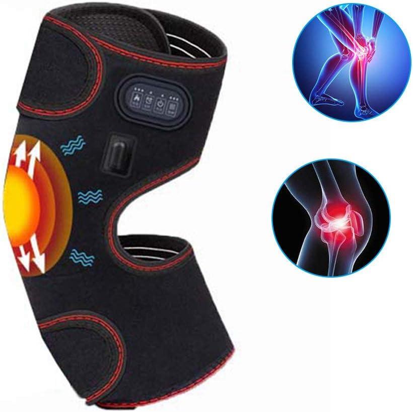 HGJDKSJ Rodillera, para la artrosis, Rodilleras calefactoras, Control de Temperatura de 3 Pasos, Fiebre de grafeno, masajeador de Rodilla con vibración para el Dolor y el Apoyo de la Artritis