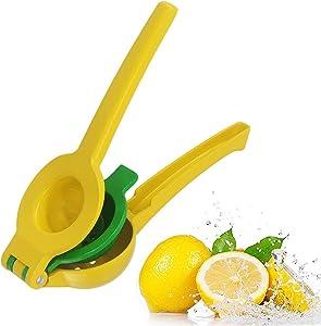 Manual Juicer Citrus Lemon Squeezer,Metal Lemon Lime Citrus Juicer Machine,Fruit Juicer Lime Press Metal,Professional Hand Juicer Kitchen Tool,this 2-in-1 lemon pressme press can juice limes