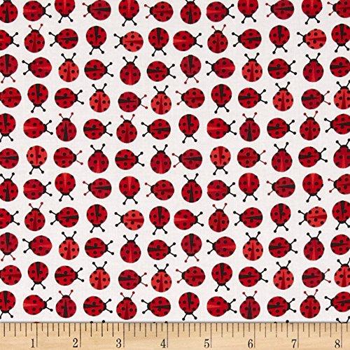 Robert Kaufman 0402752 Kaufman Urban Zoologie Mini Ladybugs Red Fabric by the Yard