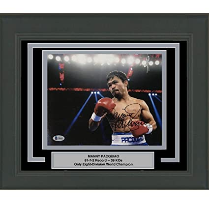 1d9d4e927667e Framed Autographed/Signed Manny Pac-Man Pacquiao Boxing 8x10 Photo ...