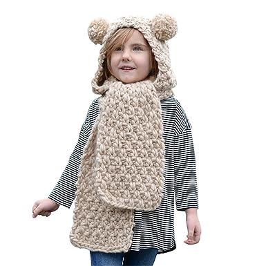 d7720e1a5166 YiLianDa Mignon Enfants d hiver Bébé Chapeaux Licorne en Tricot Bonnet  Chapeaux pour Enfants
