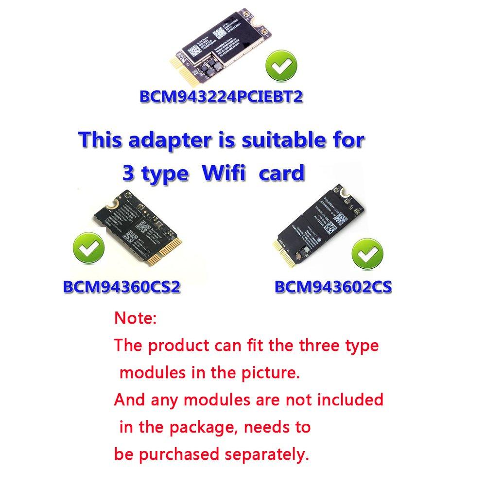 WiFi + Bluetooth 4 0 Card to PCI-E Adapter