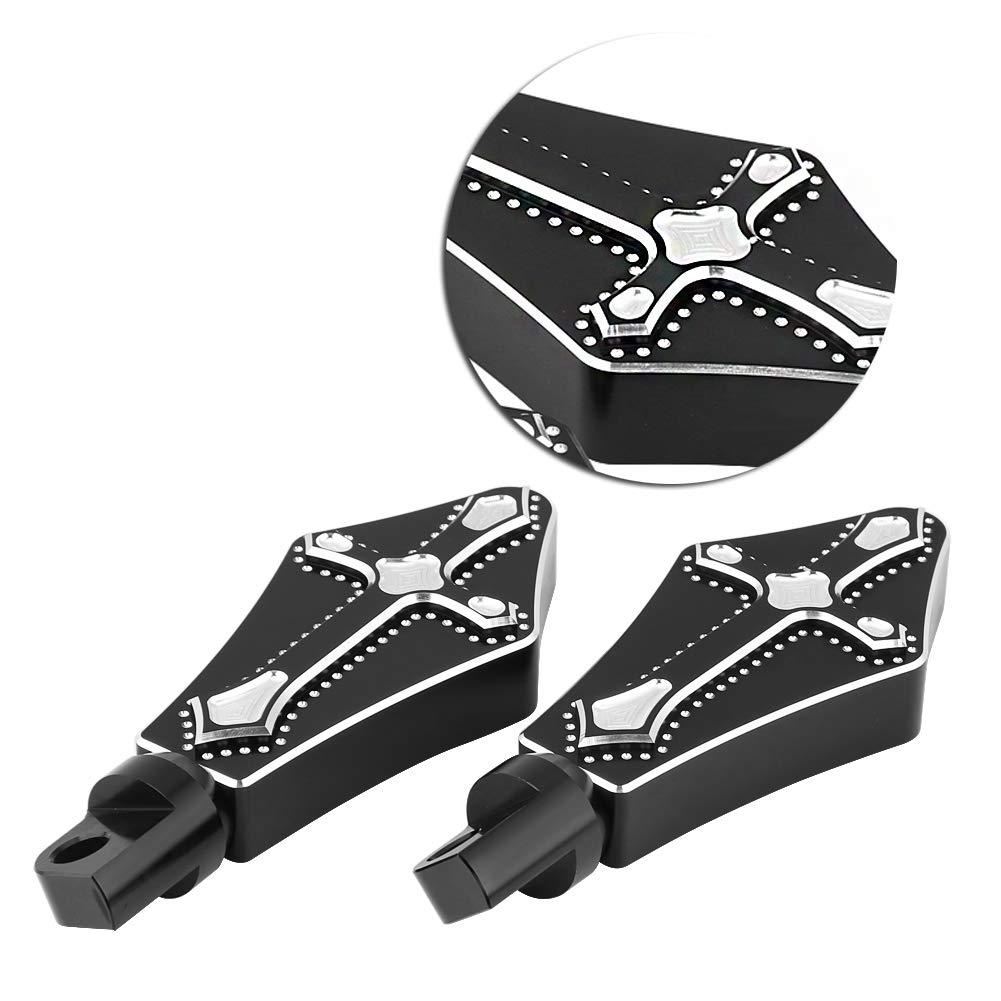 EBTOOLS Moto Antid/érapant Repose-Pied Repose-Pieds Couvre-P/édale /à Type Croix pour XL 883L 883N