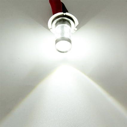 Sedeta Free error Veh/ículo autom/óvil 50W H7 10 LED de la niebla De circulaci/ón diurna de conducci/ón de luz de l/ámpara Aleaci/ón Plata para veh/ículos