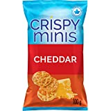 Quaker Crispy Minis Gluten-Free Cheddar Flavour Rice Chips, 100 g (Pack of 12)