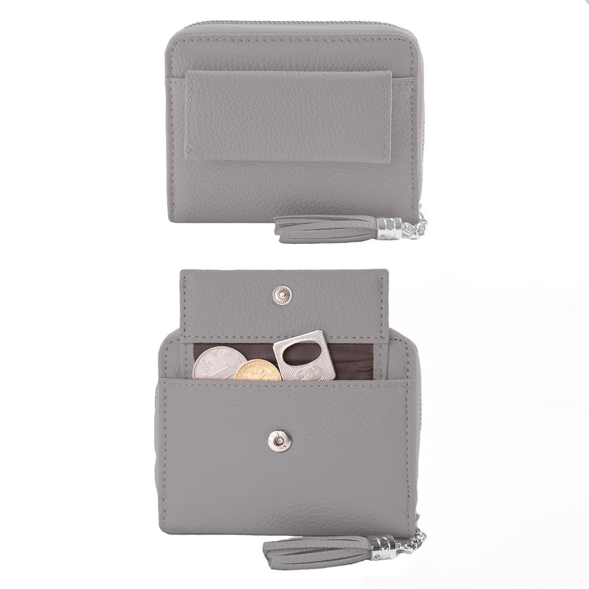 87465e4f1dfa Women Small Wallet Lady Mini Purse Bifold Leather Short Wallet RFID  Blocking with ID Window