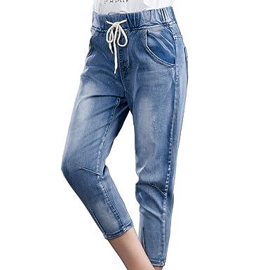 be6132455f7 Bestor Fashion Women Plus Size Denim Shorts Stretch Distressed Indigo  Cropped Jeans Capris (12