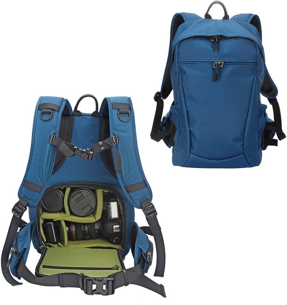Large YuHan Multi-function Waterproof Anti-shock SLR// DSLR Camera Backpack with 15-Inch Laptop Rucksack Inner Padding Orange