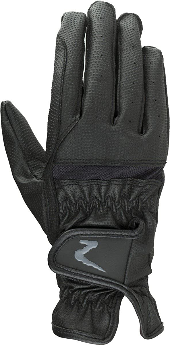 Horze Verona Synthetic Gloves Black Large Horze Equestrian