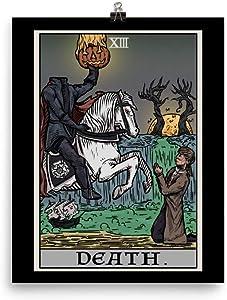 Death Tarot Card Poster - Headless Horseman - The Legend of Sleepy Hollow Gothic Halloween Wall Art Home Decor (8