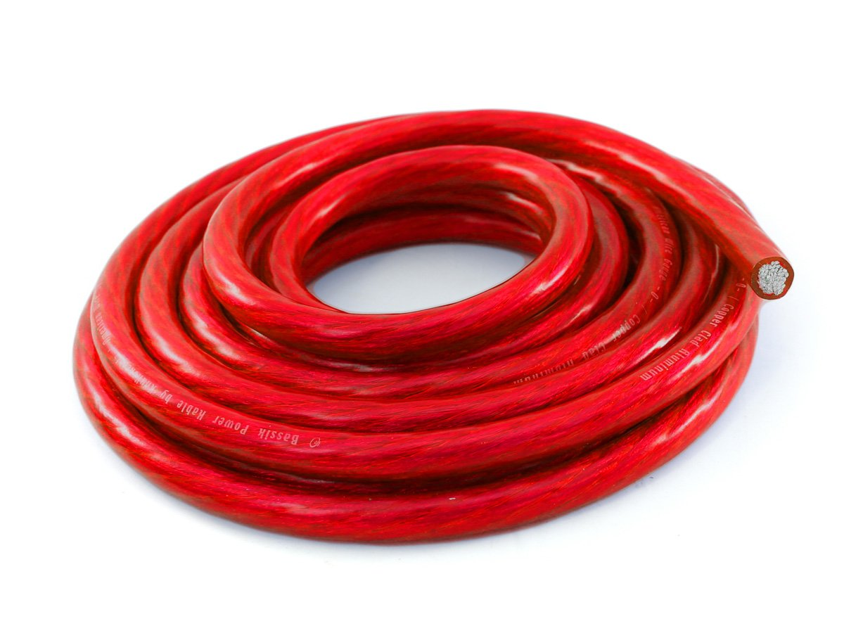 KnuKonceptz Bassik 4 Gauge Red Power / Ground Wire Cable - 30 Feet