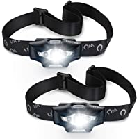 LED Headlamp, Super Bright 110 Lumens Outdoor LED Headlight with 6 Lighting Mode, IPX6 Waterproof, Lightweight, Comfortable, Adjustable Angle & Adjustable Strap Headlamp Perfect for Running,Camping, Hiking, Reading & More,Battery powered