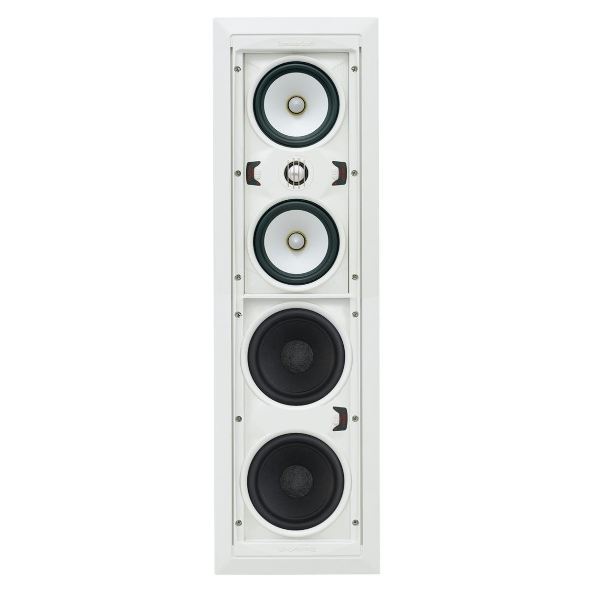 SpeakerCraft ASM71531 AIM Cinema Three In-Wall Speaker - Each (White) by SpeakerCraft