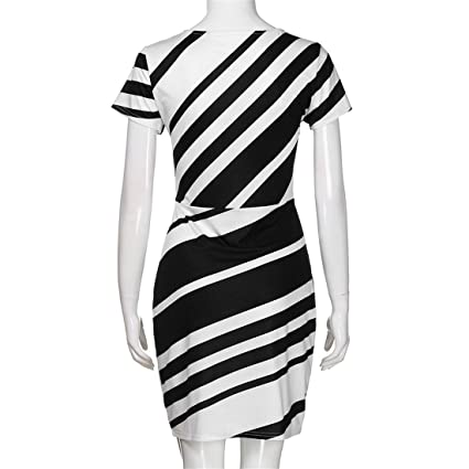 Womens Dresses,Womens Dresses Party,Womens Dress Suits,Moonuy,Girl Ladies Short Sleeve Pencil Stripe Vintage Knee Mini Casual Dress for Women: Amazon.co.uk: ...