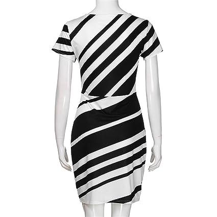 Womens Dresses,Womens Dresses Party,Womens Dress Suits,Moonuy,Girl Ladies Short Sleeve Pencil Stripe Vintage Knee Mini Casual Dress for Women: Amazon.co.uk: ...