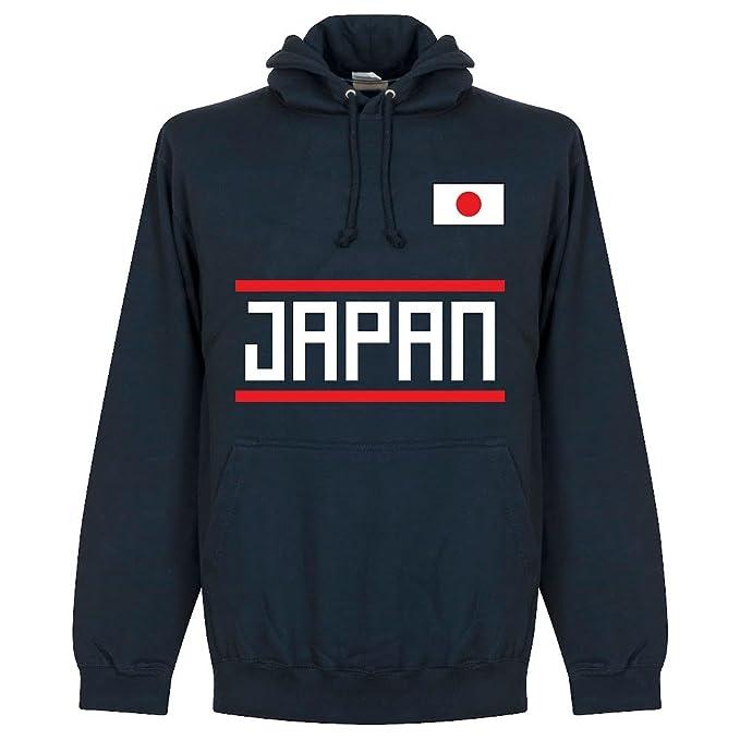 Retake Sudadera con Capucha de Equipo Japonés, Color Azul Marino: Amazon.es: Deportes y aire libre