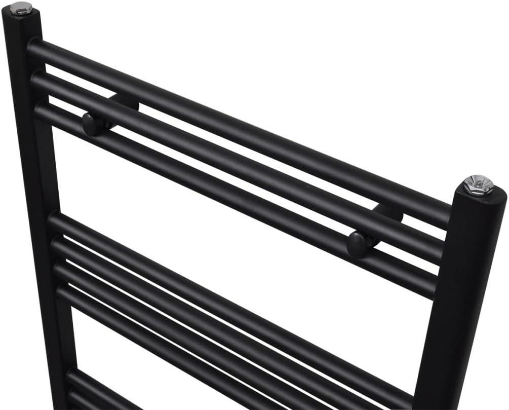 vidaXL S/èche-serviettes Porte-serviette eau chaude /à rails incurv/és Gris 500 x 1732 mm