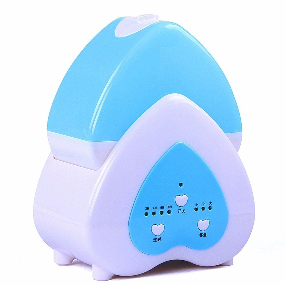 DIDIDD Air humidifier lights home mute bedroom air-conditioned mini room office desktop mini humidification machine,Blue