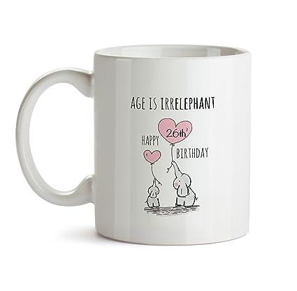 26th Happy Birthday Gift Mug
