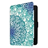 Fintie Slimshell Case for Kindle Paperwhite - Fits All Paperwhite Generations Prior to 2018 (Not Fit All-New Paperwhite 10th Gen), Emerald Illusion