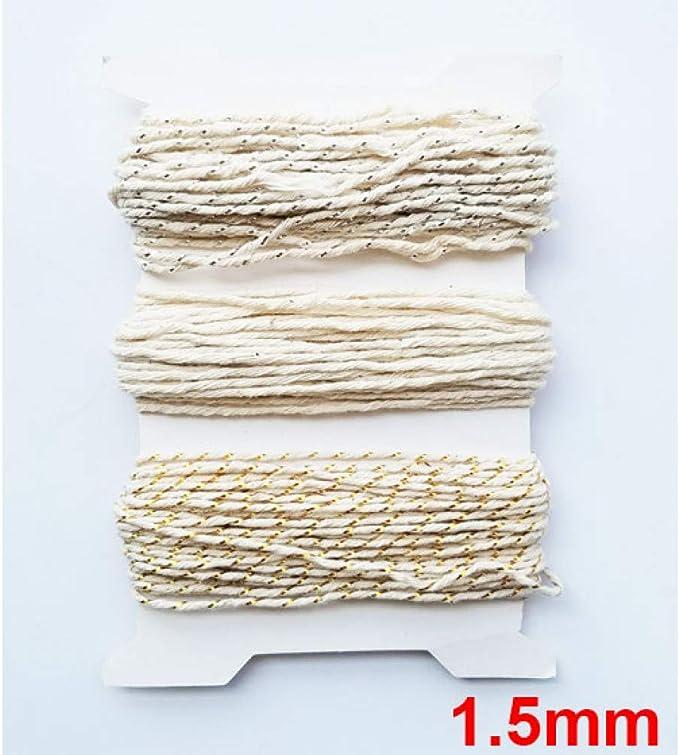 HYZKJ Cuerda Colorido 1Mm-2Mm Cuerdas De Hilo De Algodón Cuerda De ...