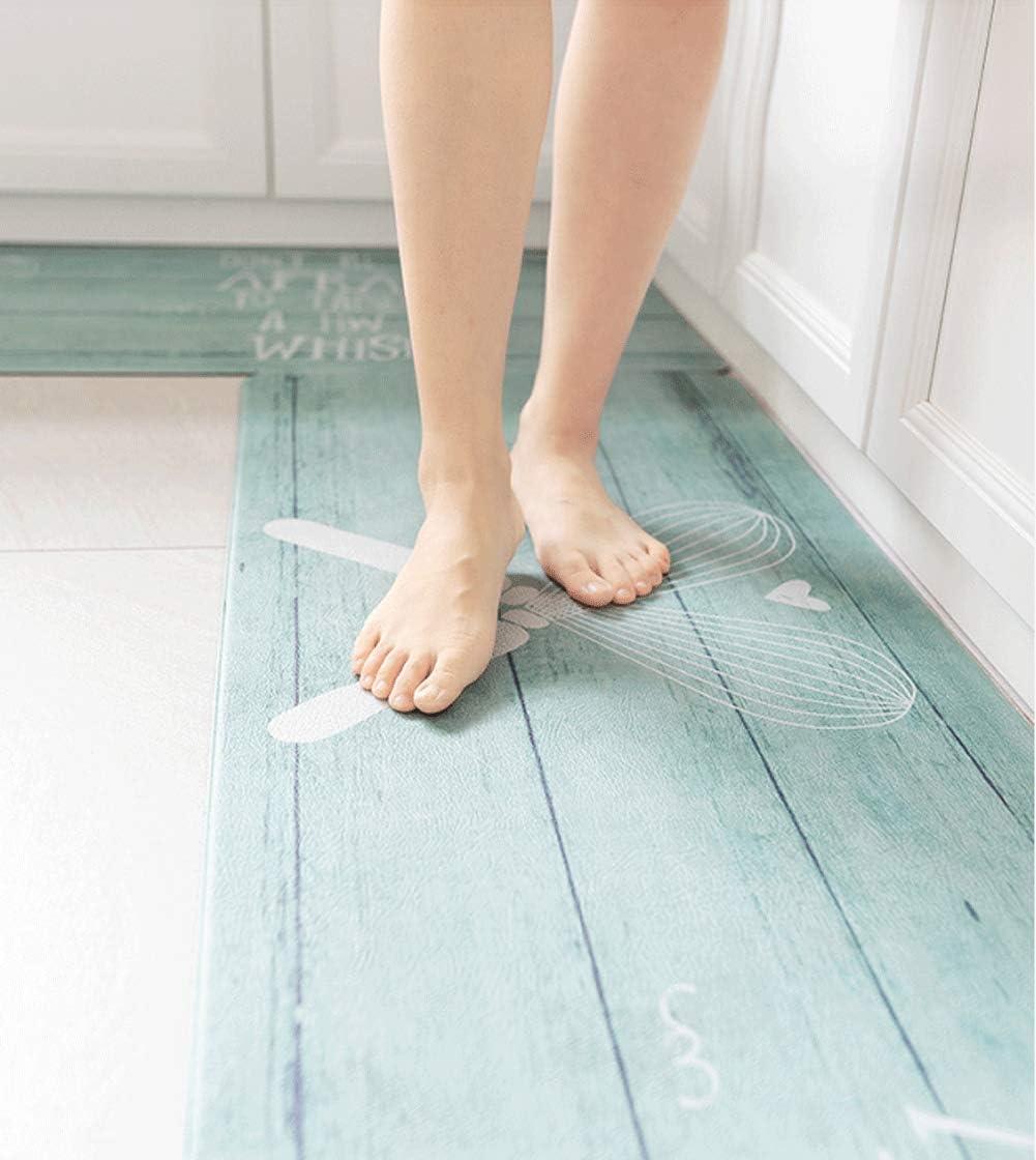 Non Slip Waterproof Standing Kitchen Floor Mats 2 Piece Anti Fatigue Cushioned Kitchen Rugs and Mats KIMODE Kitchen Rug Runner Set Black//White Buffalo Plaid 18 x 29+18 x 47