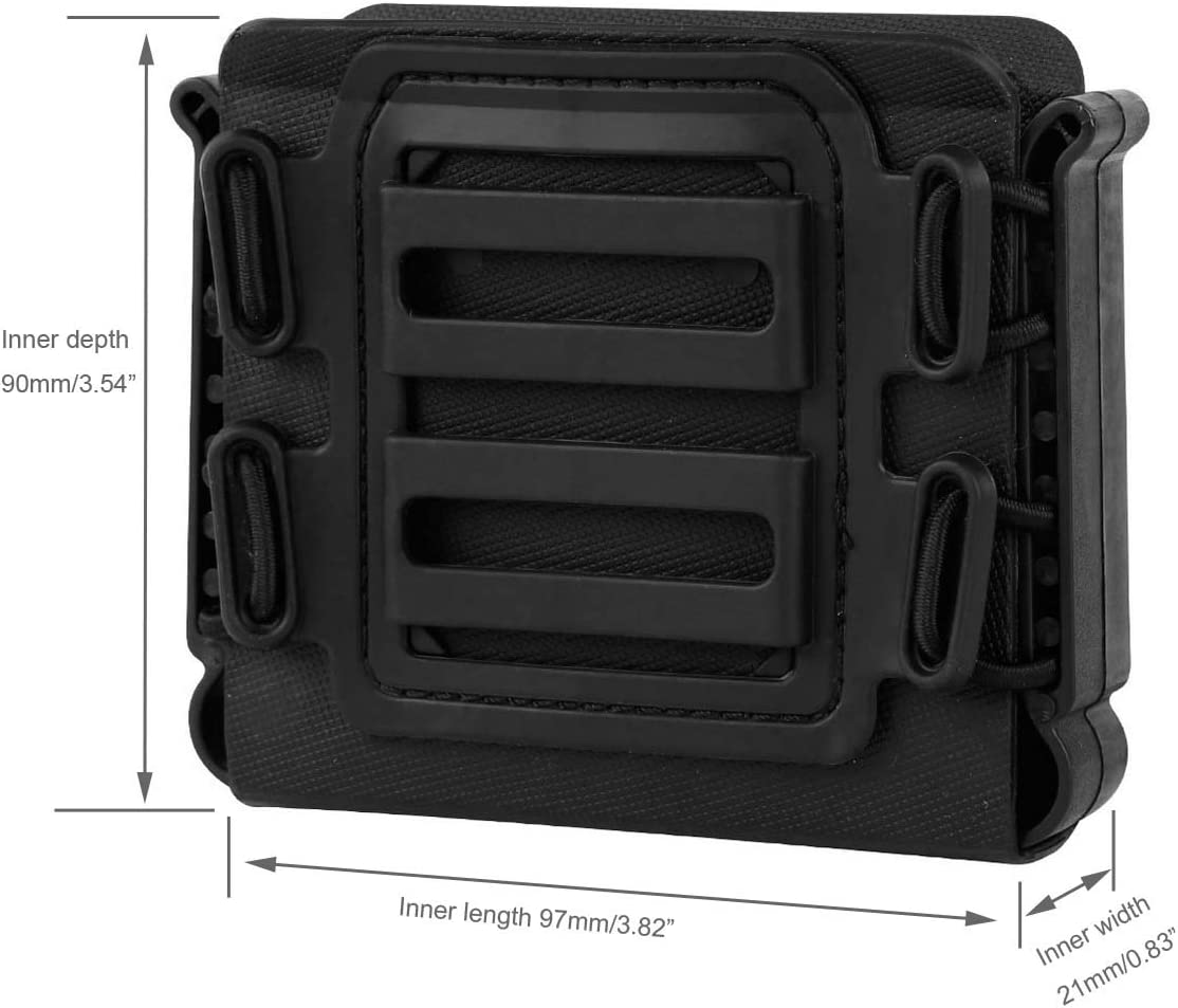 Tactical Soft Shell Rifle Mag Carrier Magazine Pouch Molle Clip for Sniper Rifle