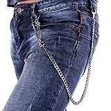 Stainless Steel Wallet Chain Punk Biker Jean Purse Key Chain (26''/3.1oz)