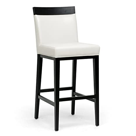 Pleasant Baxton Studio Clymene Black Wood And Cream Leather Modern Bar Stool Squirreltailoven Fun Painted Chair Ideas Images Squirreltailovenorg