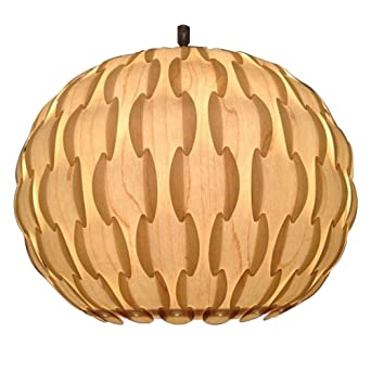 Modern designer retro patterned norsk wood veneer round artichoke modern designer retro patterned norsk wood veneer round artichoke ceiling pendant light shade mozeypictures Choice Image