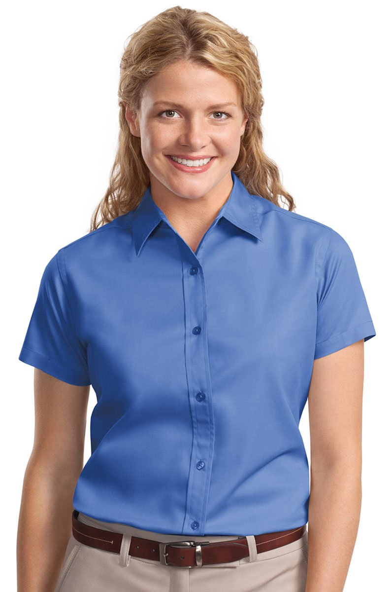 Port Authority Ladies Short Sleeve Easy Care Shirt - Ultramarine Blue L508 L
