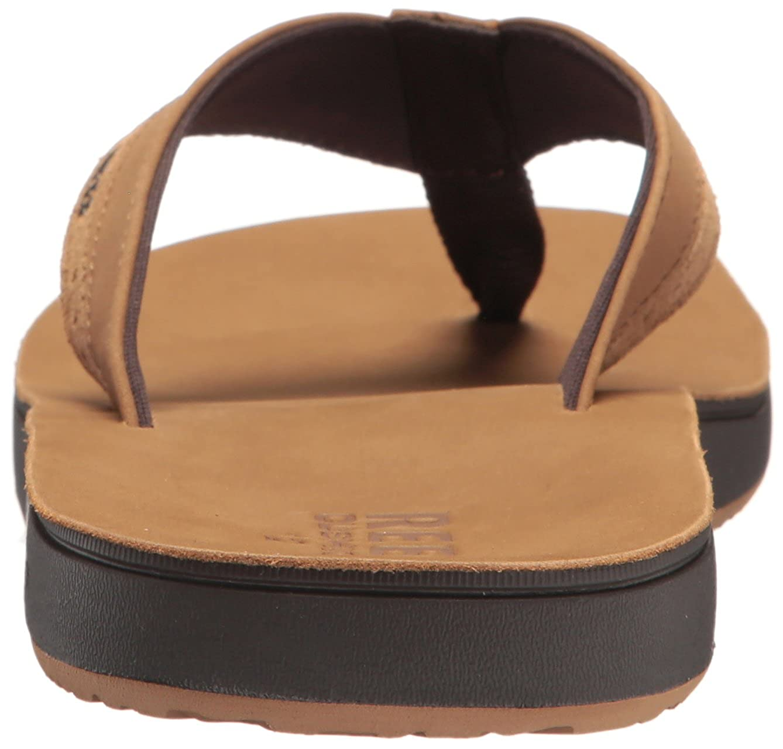 REEF Mens Leather Contoured Cushion Sandal