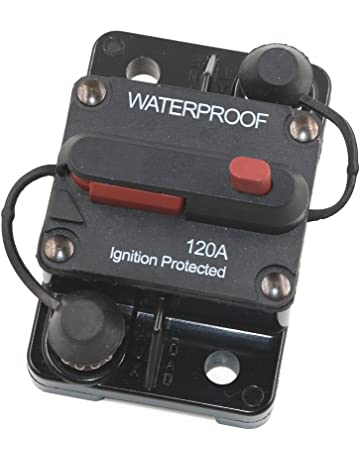 T Tocas 120 Amp Circuit Breaker Trolling with Manual Reset, 12V- 48V DC,