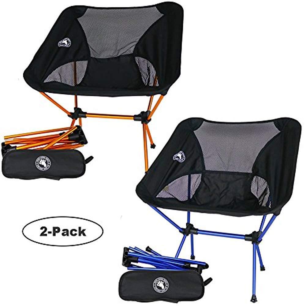 新作人気 Bigfoot アウトドア 超軽量 バックパッキングチェア アウトドア 2-Pack; + 超軽量 1 Orange + 1 Dark Blue B079V5WT8B, はんこdeハンコ:4a75e86f --- arianechie.dominiotemporario.com