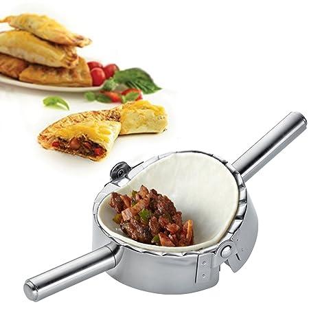 Utensilio de cocina para hacer ravioles, empanadillas y pirogi de Best Utensils, accesorio de cocina, acero inoxidable, Plateado, Large