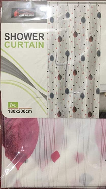HISCIN Impression Printed 6 ft PVC Shower Curtain (180X180 cm, Multicolour)