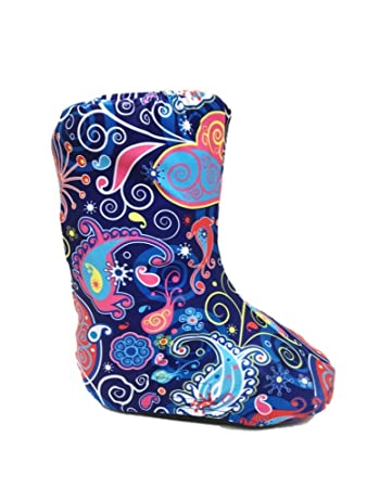 68d30436231e72 My Recovers Walking Boot Cover for Fracture Boot, Fashion Cover in Bright  Blue Paisley,