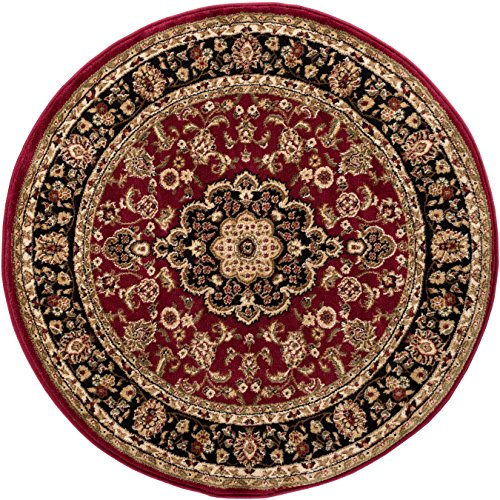 - Well Woven Barclay Medallion Kashan Red Traditional Area Rug 3'11